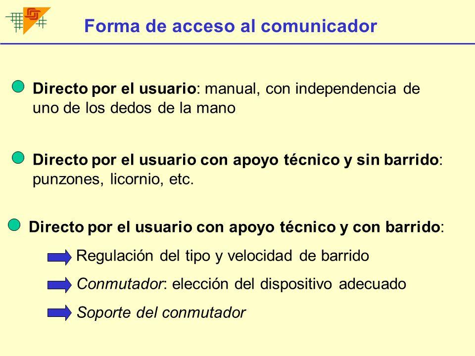 Forma de acceso al comunicador