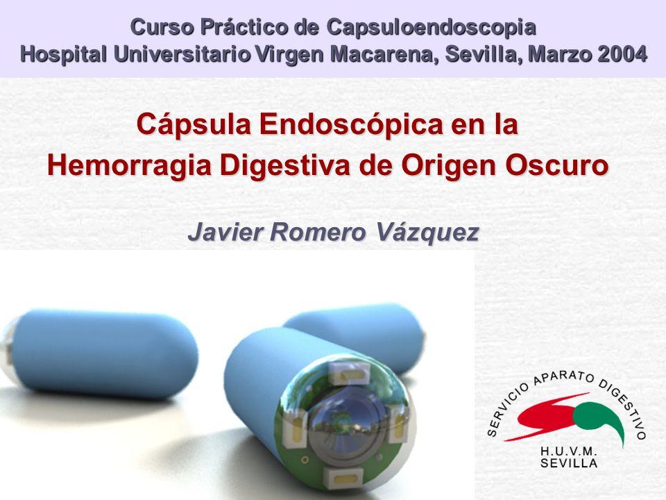 Cápsula Endoscópica en la Hemorragia Digestiva de Origen Oscuro