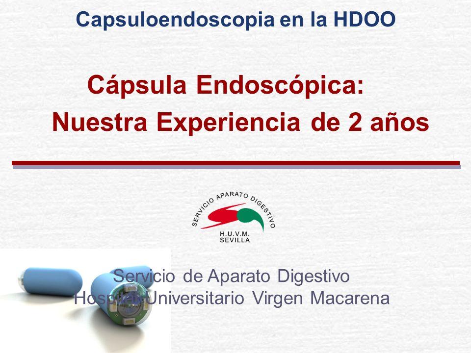 Cápsula Endoscópica: Nuestra Experiencia de 2 años