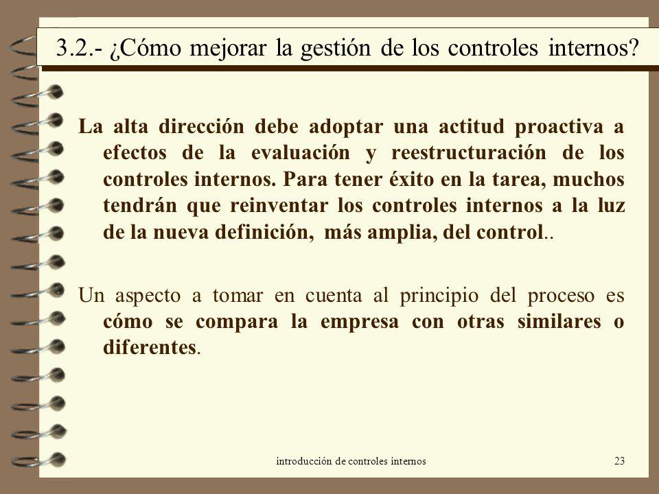 3.2.- ¿Cómo mejorar la gestión de los controles internos