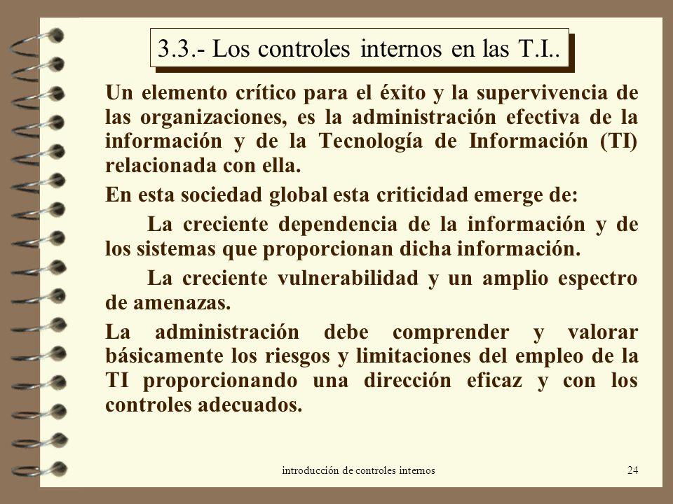 3.3.- Los controles internos en las T.I..