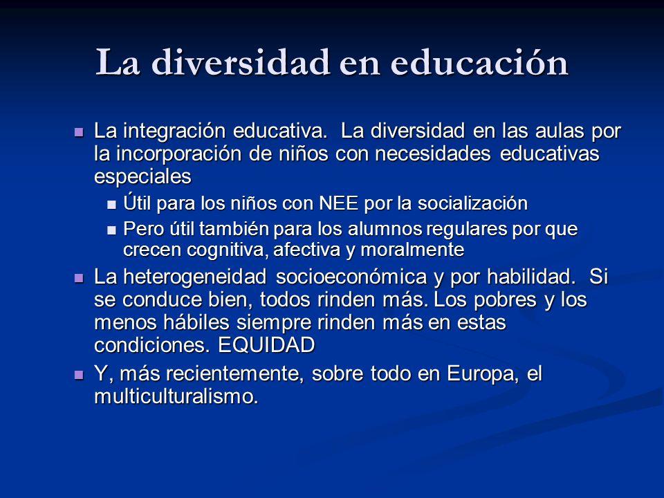La diversidad en educación