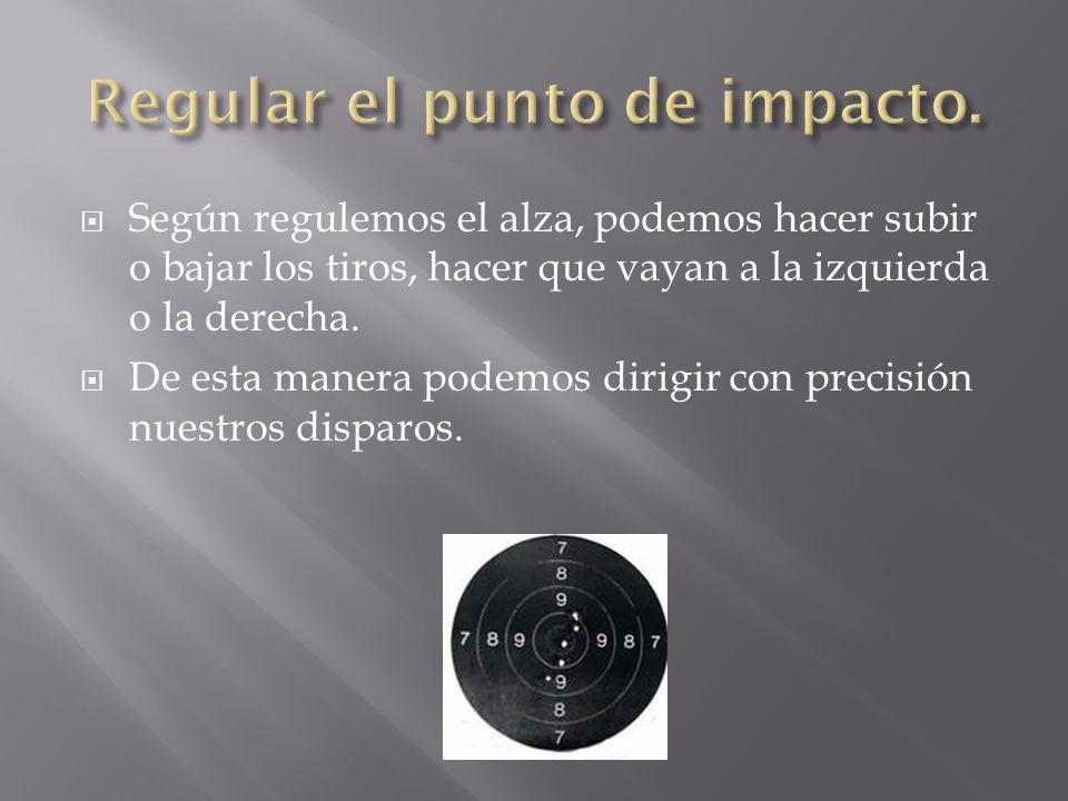 Regular el punto de impacto.