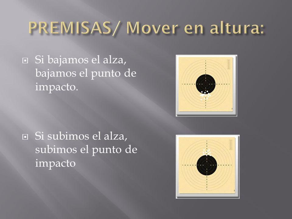 PREMISAS/ Mover en altura: