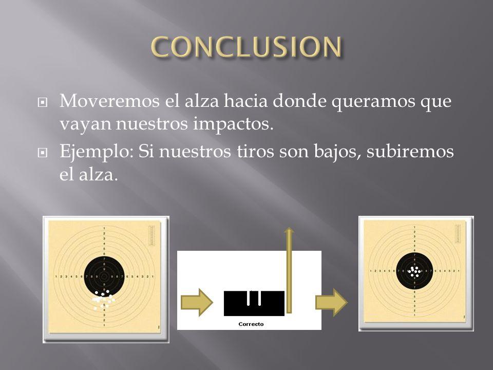 CONCLUSION Moveremos el alza hacia donde queramos que vayan nuestros impactos.