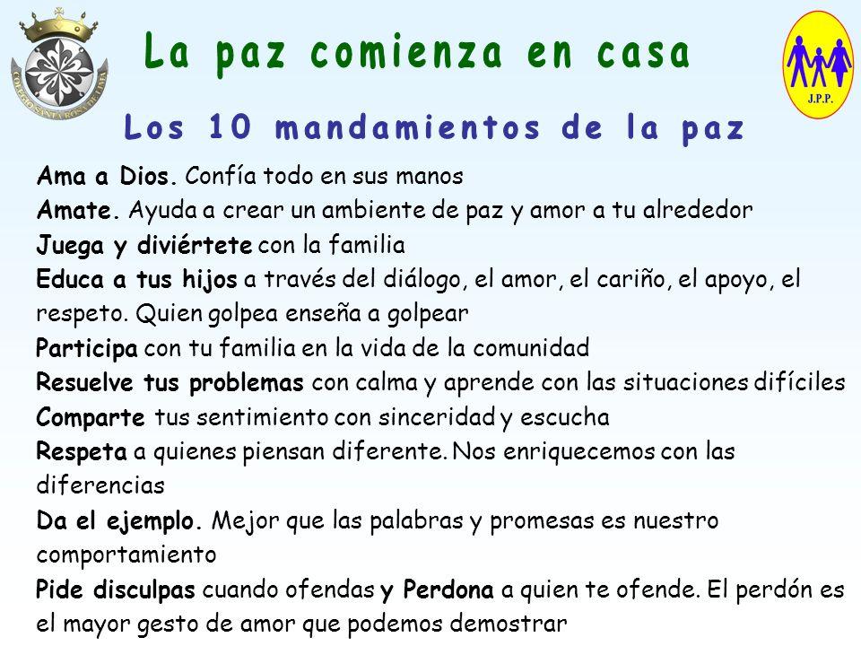Los 10 mandamientos de la paz