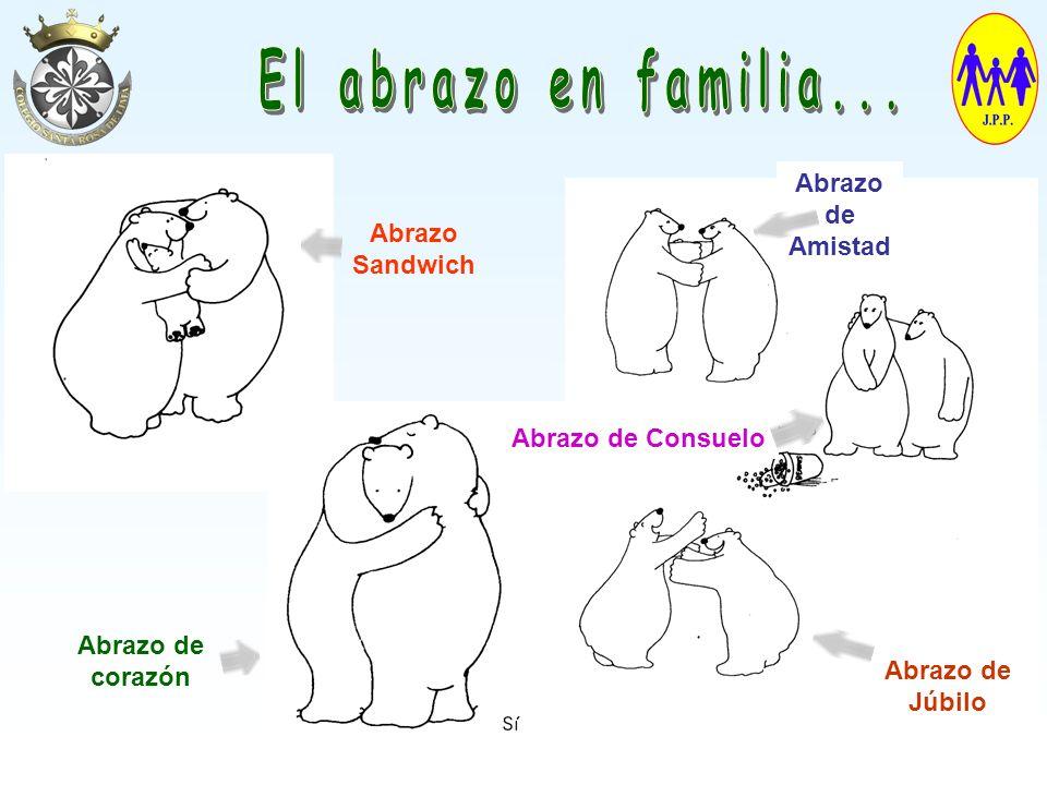 El abrazo en familia... Abrazo de Amistad Abrazo Sandwich
