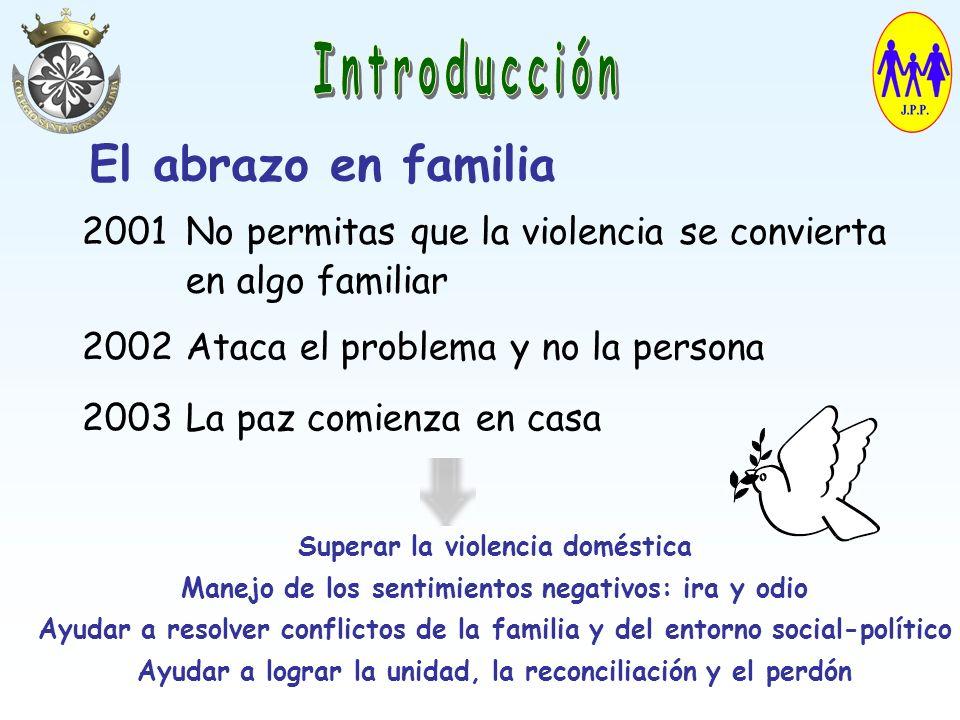 Introducción El abrazo en familia