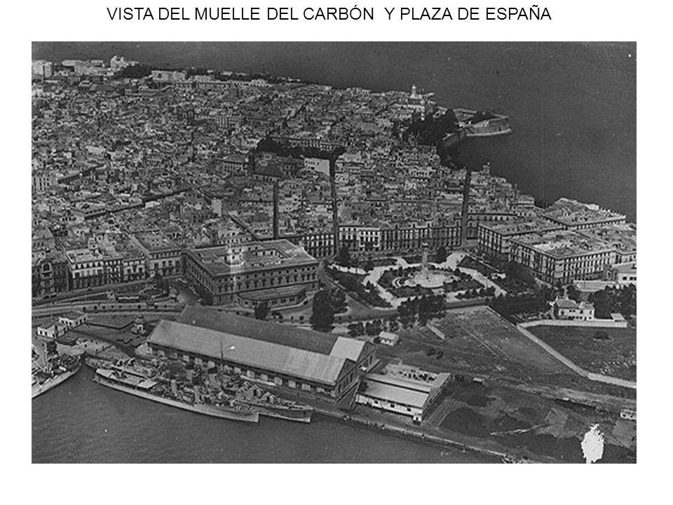 VISTA DEL MUELLE DEL CARBÓN Y PLAZA DE ESPAÑA