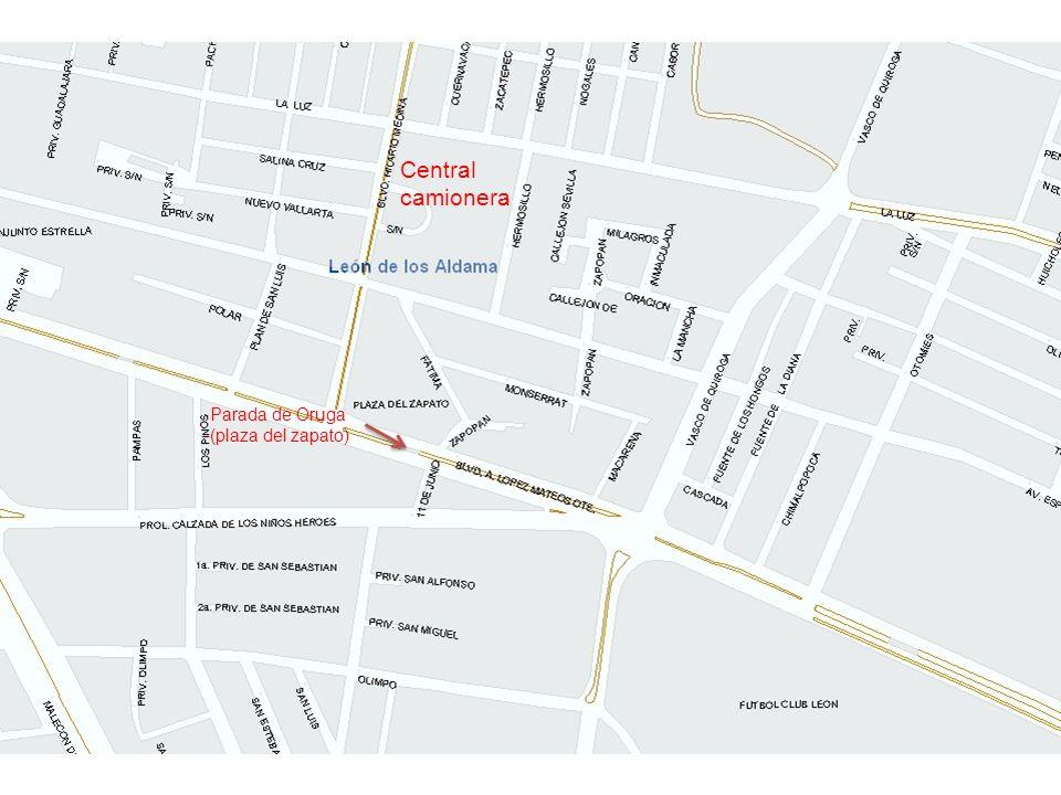 Central camionera Parada de Oruga (plaza del zapato)