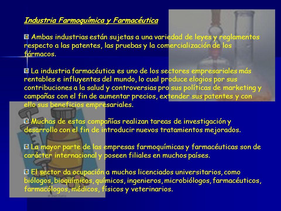 Industria Farmoquímica y Farmacéutica