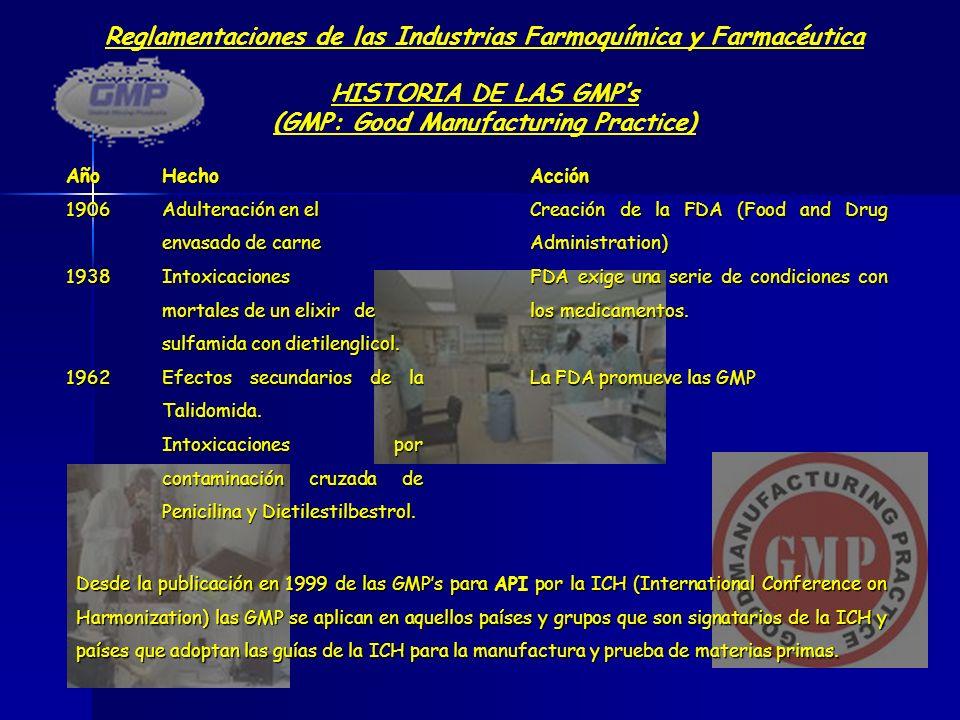Reglamentaciones de las Industrias Farmoquímica y Farmacéutica