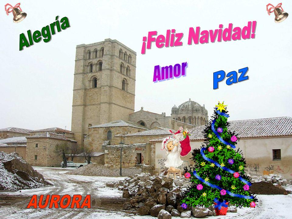 Alegría ¡Feliz Navidad! Amor Paz AURORA