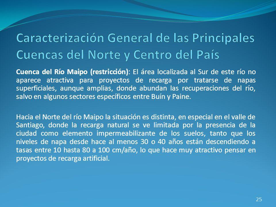 Caracterización General de las Principales Cuencas del Norte y Centro del País