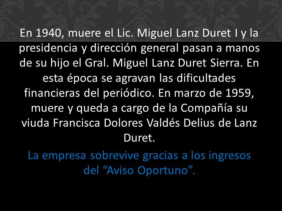 En 1940, muere el Lic.