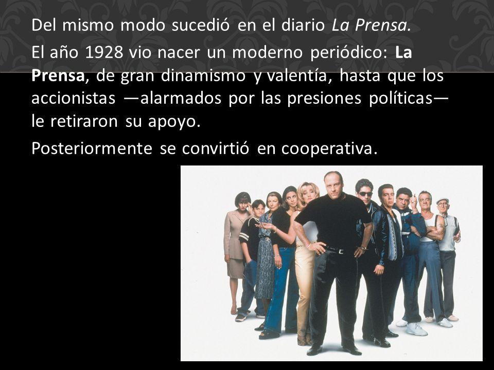 Del mismo modo sucedió en el diario La Prensa