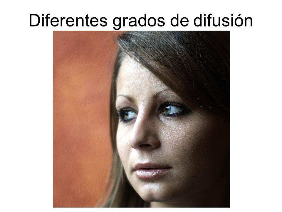 Diferentes grados de difusión