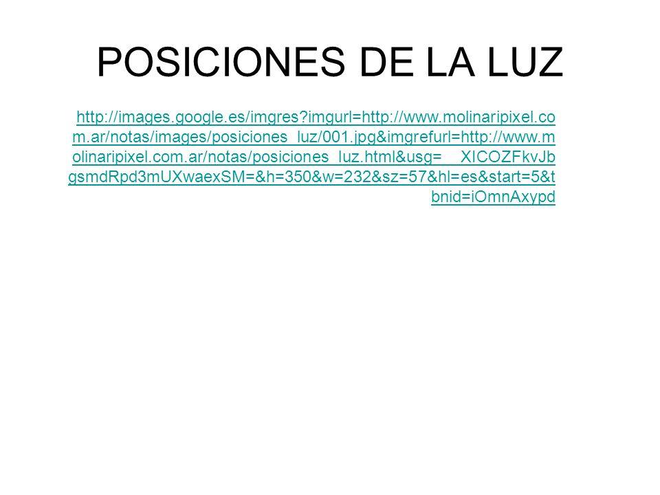 POSICIONES DE LA LUZ