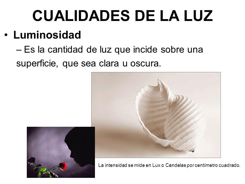CUALIDADES DE LA LUZ Luminosidad