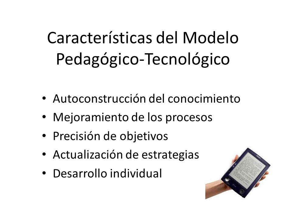 Características del Modelo Pedagógico-Tecnológico