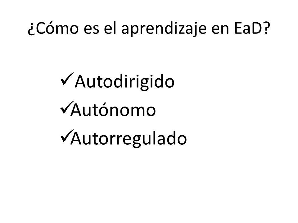 ¿Cómo es el aprendizaje en EaD
