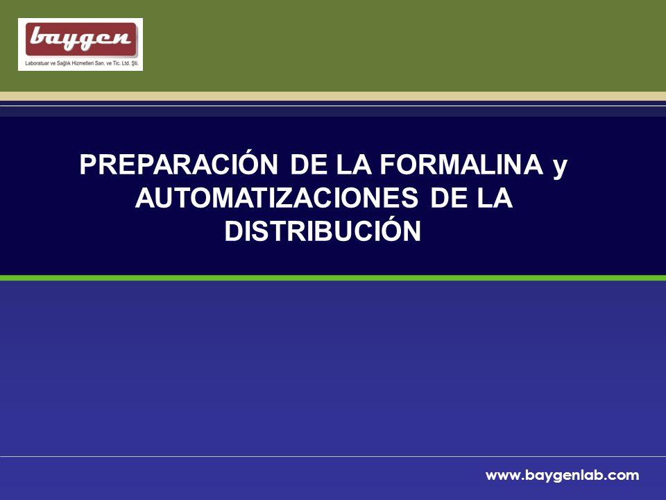 PREPARACIÓN DE LA FORMALINA y AUTOMATIZACIONES DE LA DISTRIBUCIÓN
