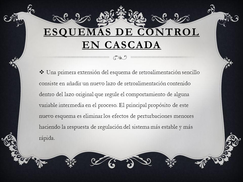 ESQUEMAS DE CONTROL EN CASCADA