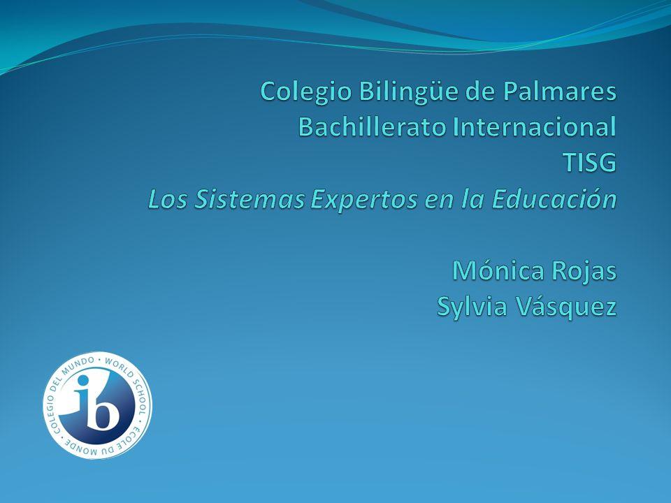 Colegio Bilingüe de Palmares Bachillerato Internacional TISG Los Sistemas Expertos en la Educación Mónica Rojas Sylvia Vásquez