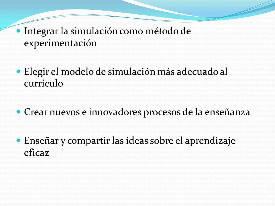 Integrar la simulación como método de experimentación