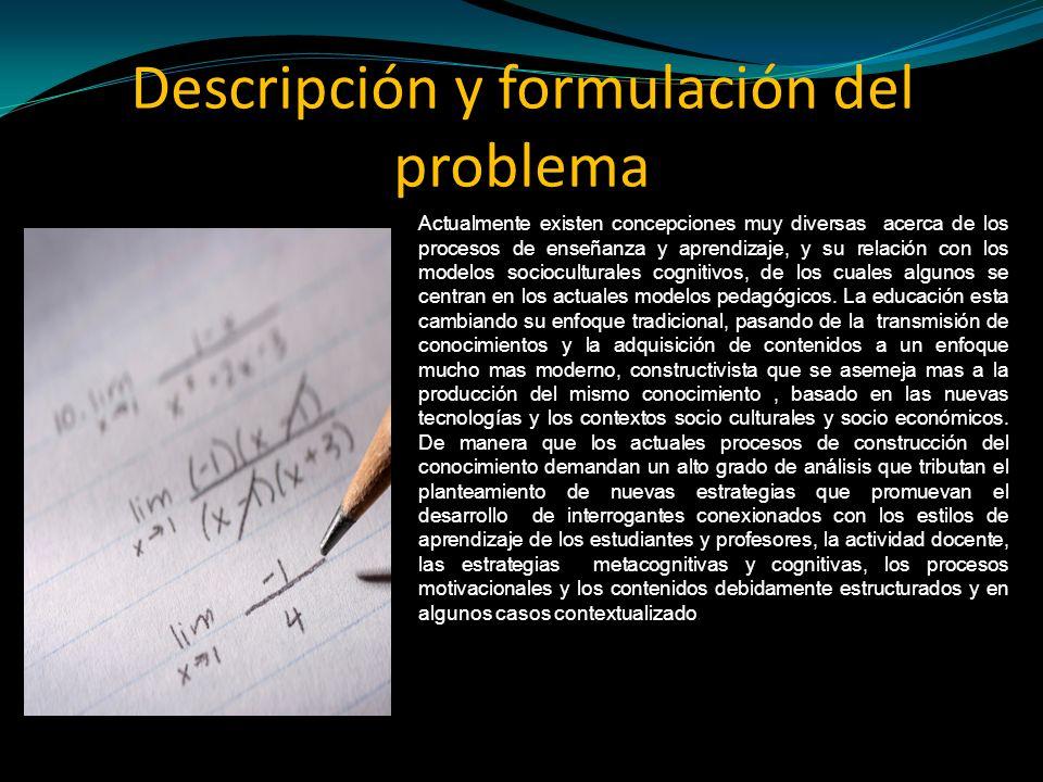 Descripción y formulación del problema