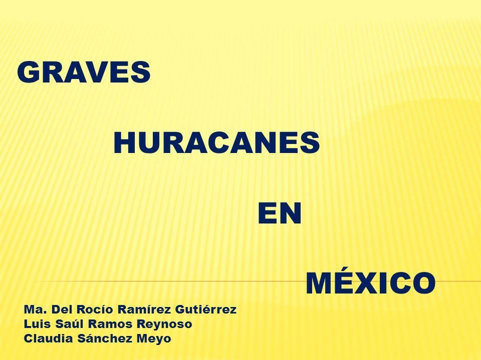 GRAVES HURACANES EN MÉXICO Ma. Del Rocío Ramírez Gutiérrez
