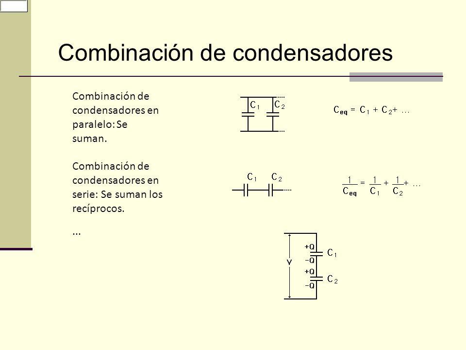 Combinación de condensadores