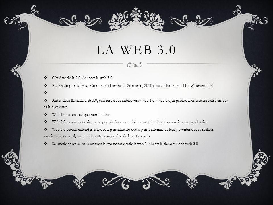 La web 3.0 Olvídate de la 2.0. Así será la web 3.0