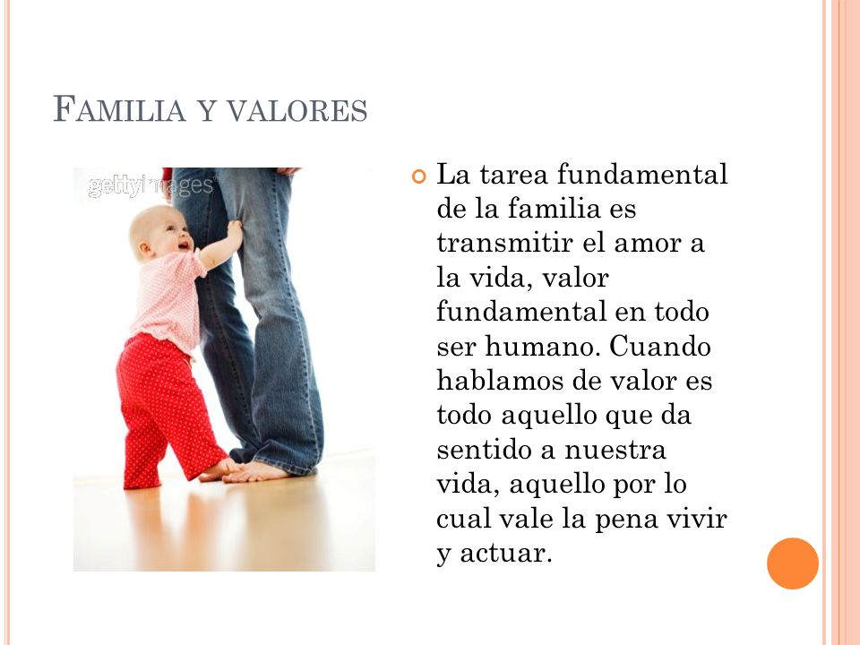Familia y valores