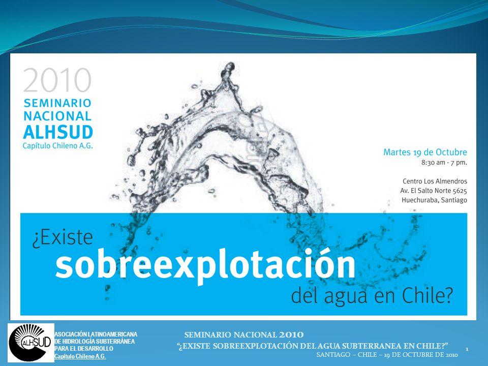 ¿EXISTE SOBREEXPLOTACIÓN DEL AGUA SUBTERRANEA EN CHILE