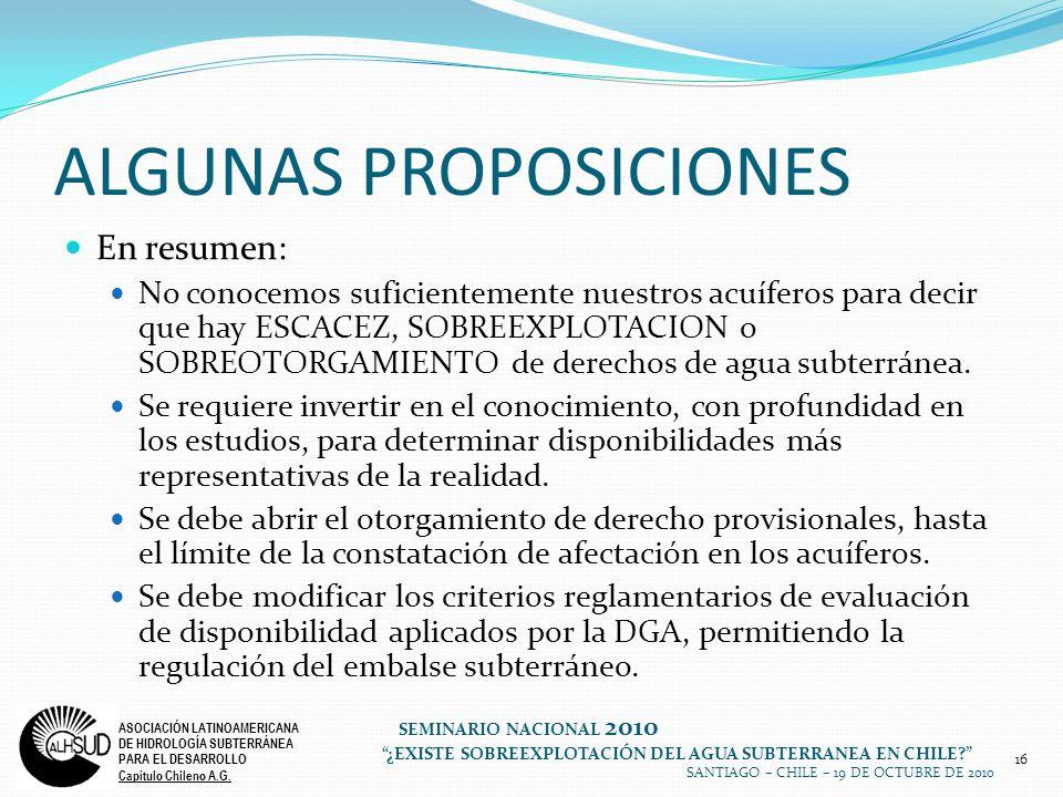 ALGUNAS PROPOSICIONES