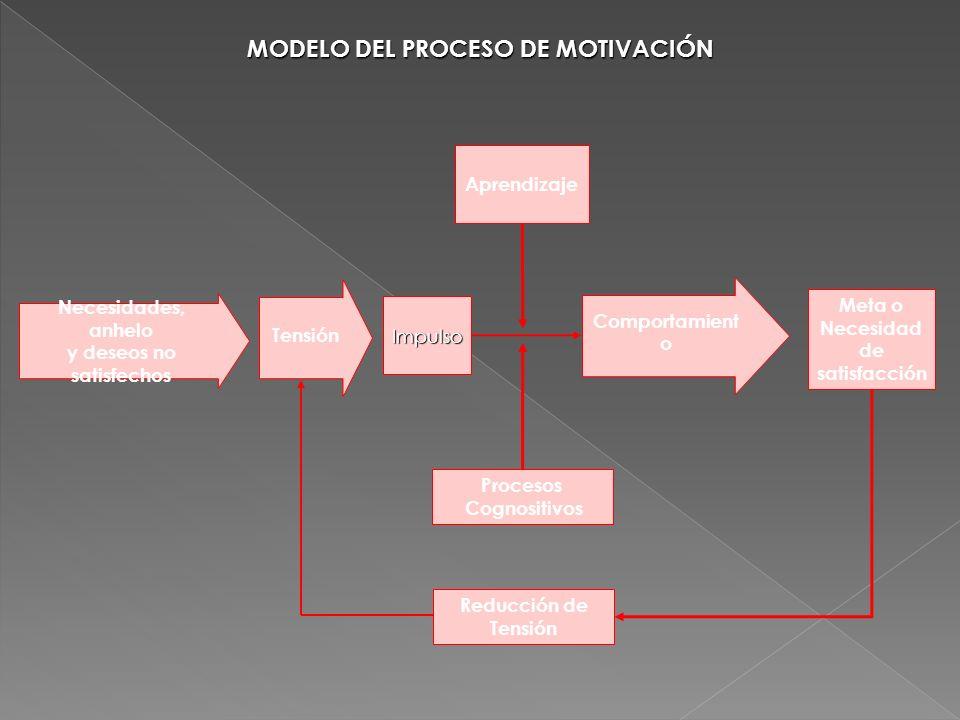 MODELO DEL PROCESO DE MOTIVACIÓN