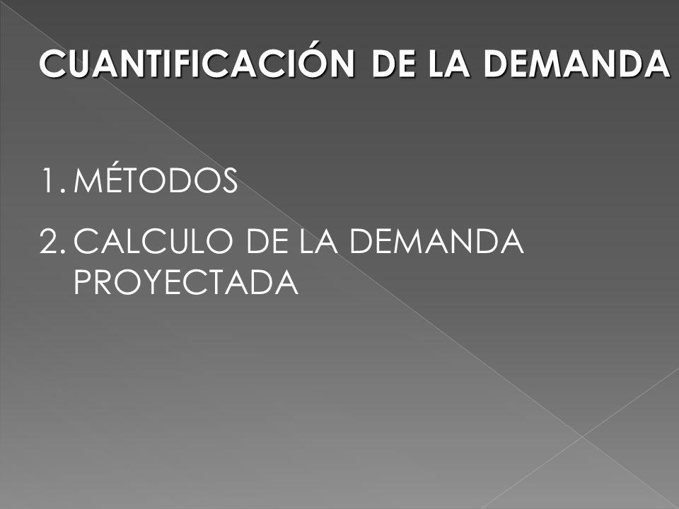 CUANTIFICACIÓN DE LA DEMANDA