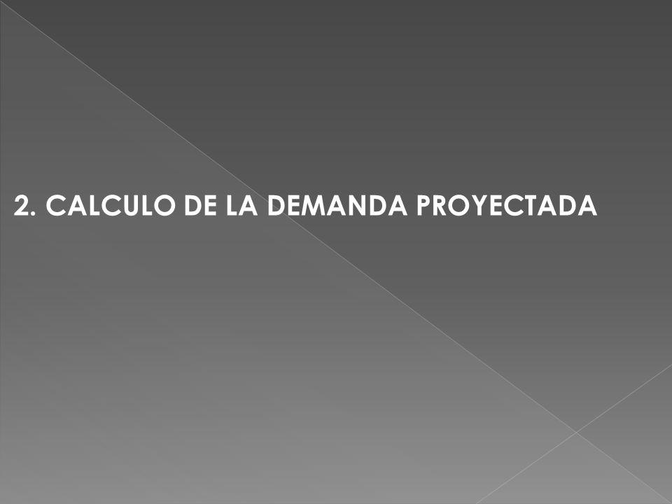 2. CALCULO DE LA DEMANDA PROYECTADA