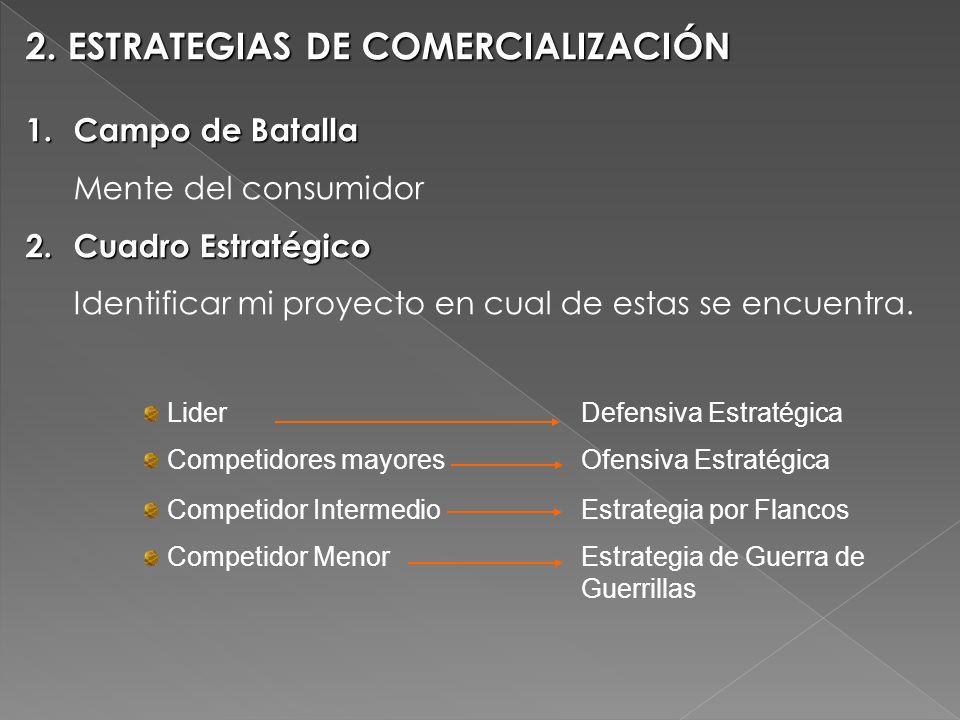 2. ESTRATEGIAS DE COMERCIALIZACIÓN