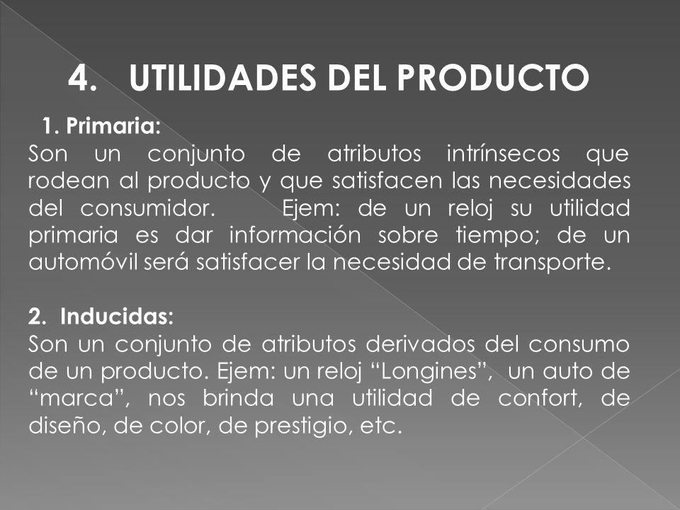 4. UTILIDADES DEL PRODUCTO
