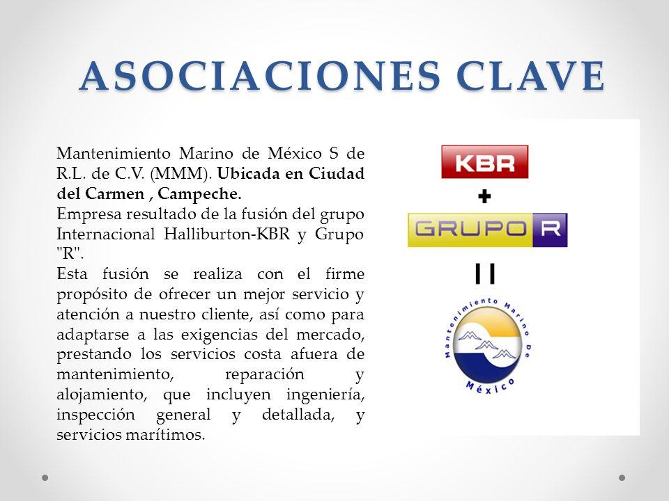 ASOCIACIONES CLAVE Mantenimiento Marino de México S de R.L. de C.V. (MMM). Ubicada en Ciudad del Carmen , Campeche.