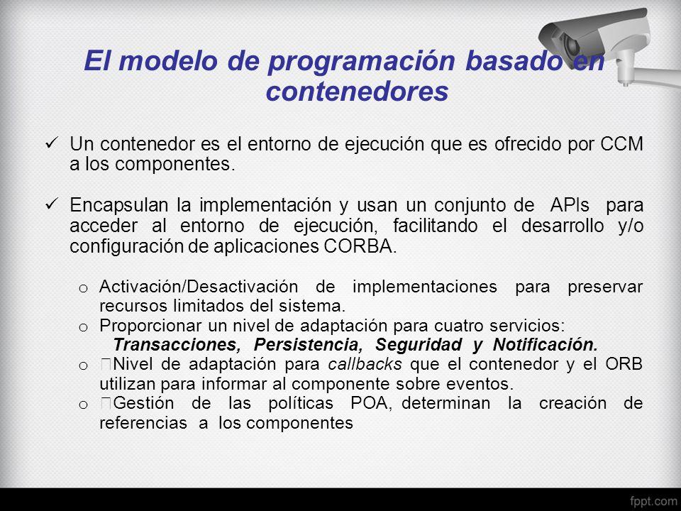 El modelo de programación basado en contenedores