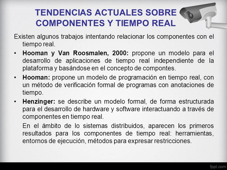 TENDENCIAS ACTUALES SOBRE COMPONENTES Y TIEMPO REAL