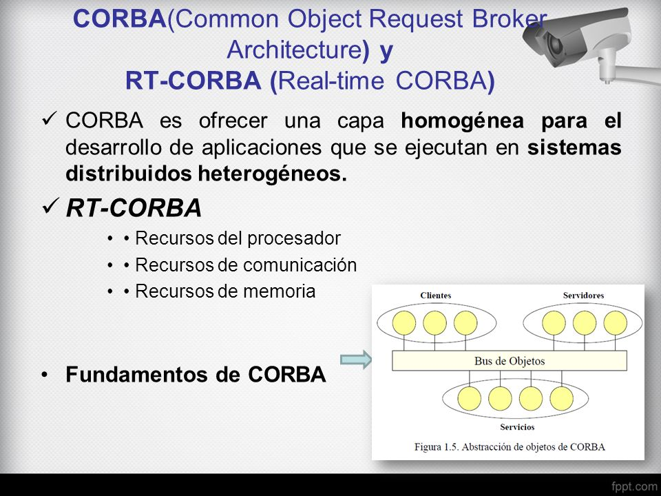 CORBA(Common Object Request Broker Architecture) y RT-CORBA (Real-time CORBA)