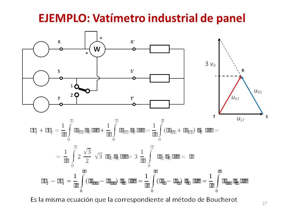 EJEMPLO: Vatímetro industrial de panel