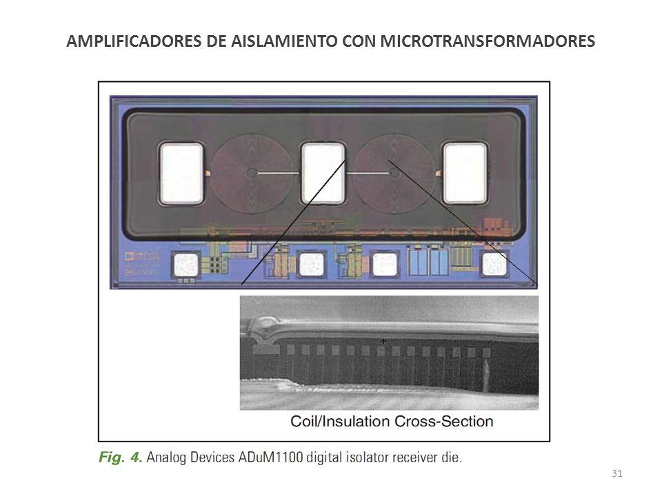 AMPLIFICADORES DE AISLAMIENTO CON MICROTRANSFORMADORES
