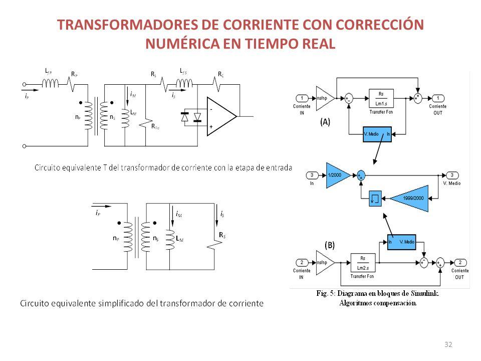 TRANSFORMADORES DE CORRIENTE CON CORRECCIÓN NUMÉRICA EN TIEMPO REAL