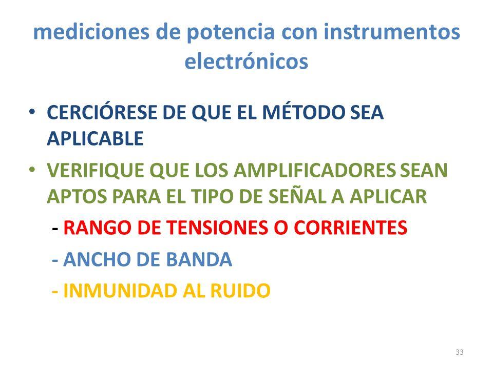 mediciones de potencia con instrumentos electrónicos