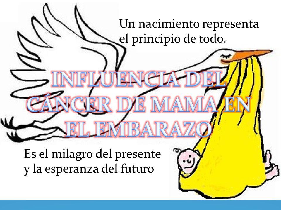INFLUENCIA DEL CÁNCER DE MAMA EN EL EMBARAZO